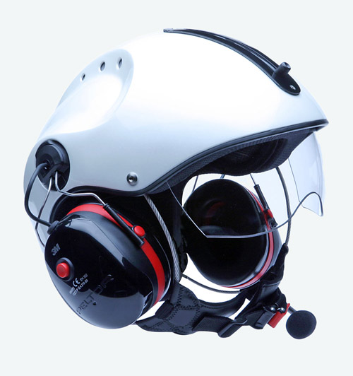 Capacete Icaro Pro Copter - Pearl White - Paramotor e Ultraleve