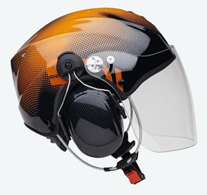Capacete Icaro Solar X - Black and Orange